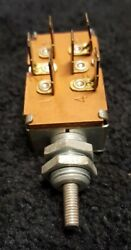 Nos Vintage Oem Cole Hersee 12v 6 Terminal Circuit Push Pull Dash Switch On Off
