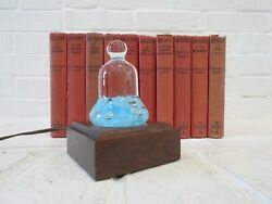 Vintage Glass Paperweight W/ Display Lamp Maude Bob St. Clair 1977 Floral Bell