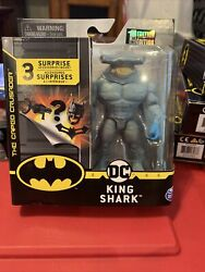 Spin Master The Caped Crusader King Shark 4 Figure 3 Mystery Accessories New