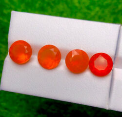 4 Pcs Natural Earth Mine Mexican Fire Opal 7.88ct