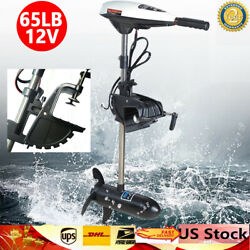 Hangkai Outboard Motor 12v 65lbs Thrust Trolling Inflatable For Fishing Boat Us