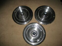 3 Vintage 1965 65 Ford Thunderbird T Bird Hubcaps Wheel Covers Center Caps