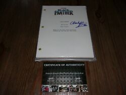 Chadwick Boseman Black Panther Actor Deceased W/coa Signed Full Movie Script