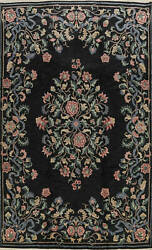 Floral Traditional Aubusson Oriental Area Rug Hand-knotted Wool Dining Room 9x12