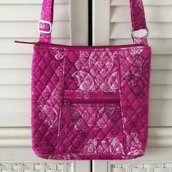 Vera Bradley Large Hipster Stamped Paisley Pink Nwt Crossbody Signature Cotton
