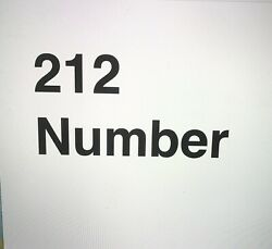 Rare New York Vanity Phone Number 212-279-5555 Great Number For Business