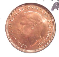 Au.in Grade 1948 One Penny Uk Coin 012016