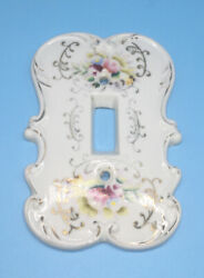 Vintage Light Switch Plate Cover Noritake Hand Painted Porcelain
