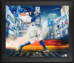 Aaron Judge New York Yankees Signed 20 X 24 Titans Of The Game Photo Framed