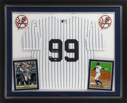 Aaron Judge New York Yankees Signed White Nike Replica Jersey Deluxe Framed