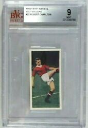 Bobby Charlton Rc 1958 Cadet Sweets Rookie Card 25 Bvg 9
