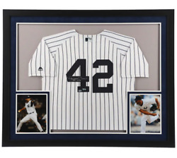 Mariano Rivera New York Yankees Signed White Authentic Jersey Framed Hof 2019