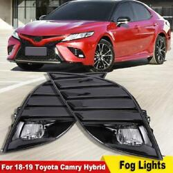 For 18-21 Toyota Camry Hybrid Se/xse Led Bumper Fog Lights Driving Lamp W/switch