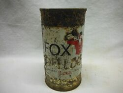 Fox Deluxe T/o Flat Top Beer Canpeter Fox Brg.,chicago,ill. 658