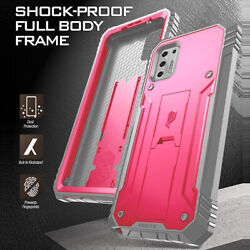 For Moto G Stylus 2021 Phone Case Dual-layer Shockproof Cover W/stand Pink