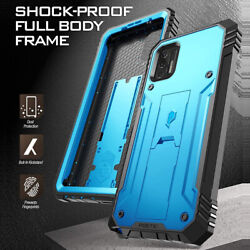 For Moto G Stylus 2021 Phone Case Dual-layer Shockproof Cover W/stand Blue