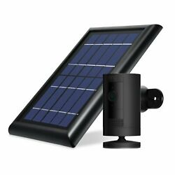 Ring Stick Up Cam Battery With Solar Panel Bundle Deal Camera 1 Pack Black