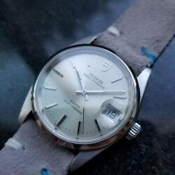 Mens Tudor Oysterdate 74000n 34mm Automatic C.1990s W/box And Paper Ma69gry