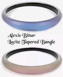 Alexis Bittar Lucite Skinny Tapered Bangle Bracelet, Ice Blue Or Rose Opalescent