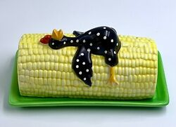 Department Dept 56 Bryan Mcnutt Corn With Chicken 1/4 Lb Butter Dish And Lid