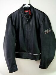Leather Jacket Polo Jeans Co. Team Racing Lrg Motorcycle Cafe Racer