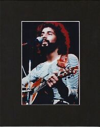 Cat Stevens 8 By 10 Matted Reprint Photo And Autograph  Photo Is 5 X 7