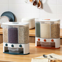 6.0l Wall Cereal Dispenser Grains Rice Food Container Flour Space Saving