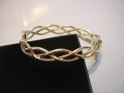 Vintage 9ct Gold Superb Large Twisted Bangle 7.5 Best Quality Heavy-x-condition