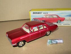 608p Dinky-toys 513 Atlas Chine Opel Admiral Rouge 143 Neuf + Boite + Valises