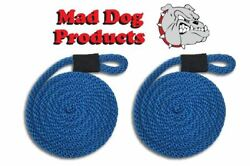 Royal Blue Boating Fender Lines - 1/2 X 5and039 - Sold In Pairs - Made In The Usa