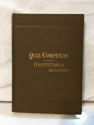 Quiz-compends Obstetrics 1901 Antique Medical Book By Dr Landis And Wells