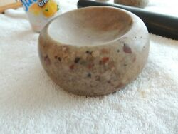 Authentic 5 3/8 By 2 3/8 Native American Discoidal, American Indian Game Stone