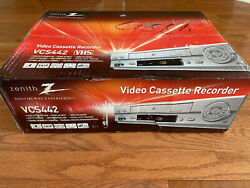 New Lg Zenith Vcs442 Vcr Player 4 Head Hifi Stereo Vhs Video Cassette Recorder