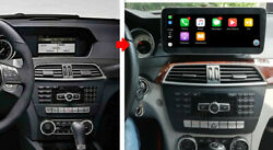 Android 10 10.25andrdquo Touch Screen Pour Mercedes C Classe Ntg4.5 2012-2015 Apple
