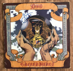 Ronnie James Dio Signed Sacred Heart Vinyl Lp Proof Vivian Campbell Appice