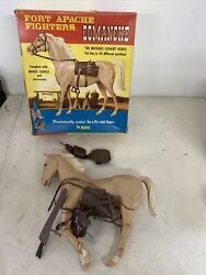 Vintage 1960and039s Marx Johnny West Fort Apache Fighters Comanche Palomino Horse