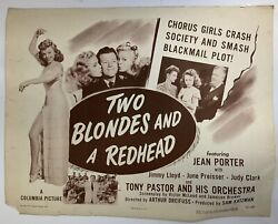 Two Blondes And A Redhead 1947 Original Movie Poster Jean Porter Yeoldepostercom