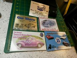 Moore Lions Club, And Pocono Mtn. Classic And Antique Aaca Car Show Dash Plaques