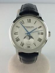 Raymond Weil 2239-stc-00659 Moon Phase X093884 Automatic Leather Slv Nvy 15de4