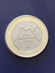 2019 Breast Cancer Support Gibraltar £2 Two Pound Coin Brilliant Uncirculated