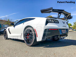 Zr1 Style Carbon Flash Rear Wing Spoiler For 2015-2019 Corvette C7- For Gs And Z06