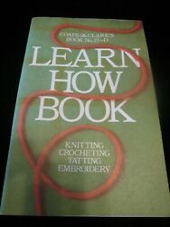 Susan Bates Crochet Hooks And Coats And Clarkand039s Learn How To Book - Crochet Knit