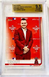 """2019 Topps Mike Trout """"in Suit"""" Variation Short Print Card 100 Bgs 9.5 Gem Mint"""