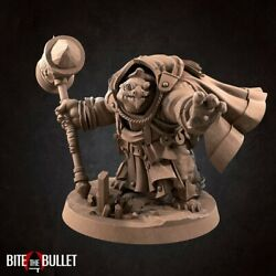 Tortle Cleric Unpainted Mini for TTRPGs Damp;D Dungeons and Dragons Pathfinder $9.99