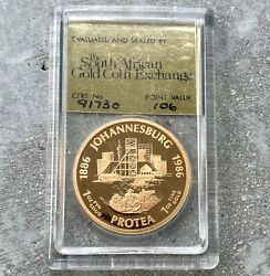 1986 South Africa Gold Coin Proof 1 Oz - South Africa Coin Exchange Johannesburg