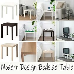 Wooden Side Table Display Folding Square Small Snack Coffee Table Office Bedroom