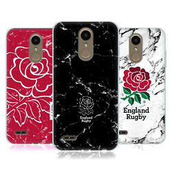Official England Rugby Union Marble Soft Gel Case For Lg Phones 1