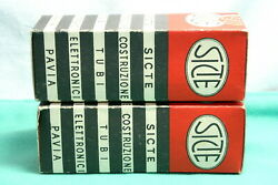 Sicte 6sn7gt Pair New In Sealed Boxes L21