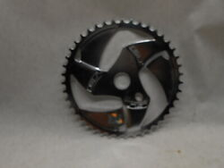 Gt Bmx Chrome Stamped Sprocket Chain Ring Fits All Bikes Vintage
