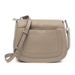 MARC JACOBS Mini Empire City Messenger Leather Saddle Bag Beige Mink MSRP $325 $100.00